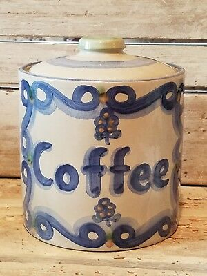 M.A. Hadley pottery Coffee canister, late 50s, signed