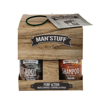 MAN'STUFF by TECHNIC PUMP ACTION TOILETRY SET Travel essentials great Xmas gift