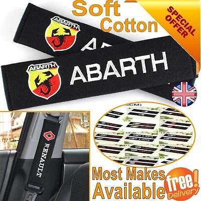 Soft Cotton Car Seat Belt Safety Pad Shoulder Strap Cover Cushion Harness Logo
