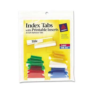 Avery® Insertable Index Tabs with Printable Inserts, 1, Assorted  072782162191