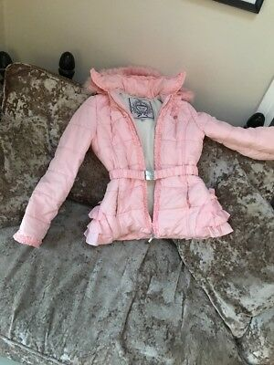 5478710545d1 LE CHIC GIRLS Pink Padded Hooded Coat Jacket Size 152 Romany Girls ...