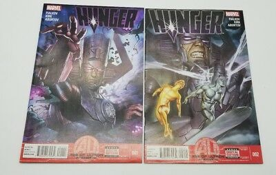 Hunger 1 & 2 September 2013 Age of Ultron Aftermath Tie In Marvel Comic Book