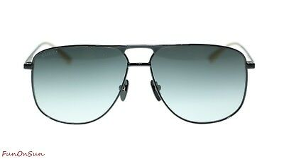 49dfdb9119a NEW Gucci Sunglasses GG0336S 002 Black Grey Gradient Lens Square 60mm  Authentic
