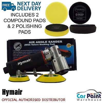 HYMAIR Professional Sander / Polisher 50 & 75mm Pneumatic air With + 4 Pads KIT