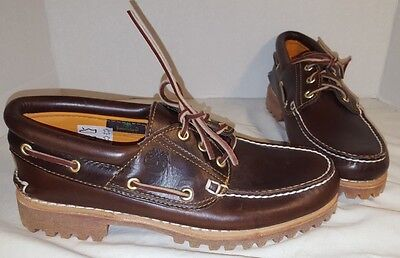 ad36d5f94d08 New Men s Timberland Brown Pull Up 3 Eye Clssic Lug Shoes Size ...