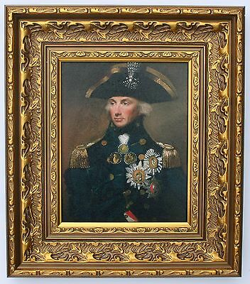 Lord Nelson Framed Oleograph R500#E  - Vice-Admiral Horatio Nelson, 1st Viscount