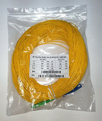 SC/UPC-SC/APC Fiber Optic OTDR Launch Cable 100 meters SM 1310/1550nm Singlemode