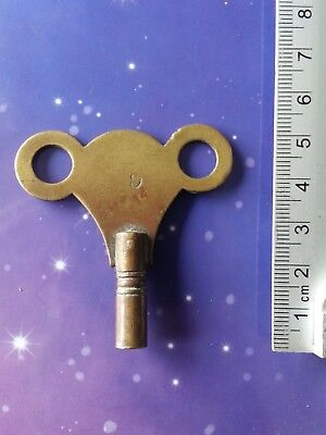 Size 5 Antique Vintage Clock Winding Winder Key Mantle Grandfather 5Cm Long