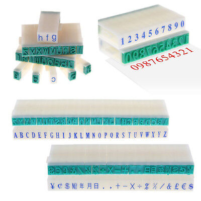 1 Set English Alphabet Letters Numbers Rubber Stamp Free Combination Diy Craft-