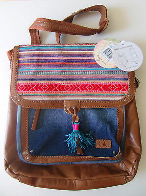 THE SAK (USA) Ventura Messenger Bag, & Rucksack, Backpack * leder/textil NEW!