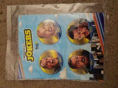SDCC Comic Con 2018 Impractical Jokers block party Pin 4 Pack Tru TV Show