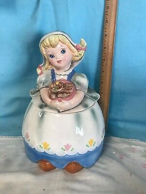 Vintage Lefton Dutch Girl Cookie Jar