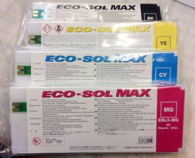 Roland Eco Sol Max New Sealed 220 CMYK FreeShipping In USA