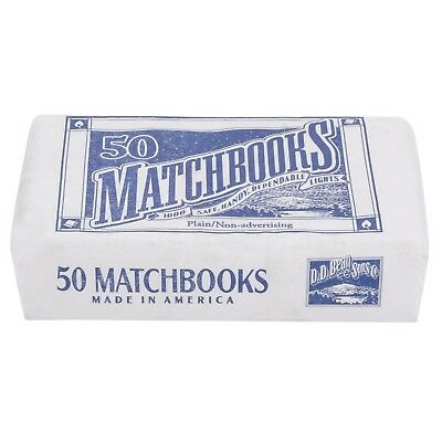 50 Plain Matches Matchbooks Birthday Wholesale Commercial Convenience Cigarette