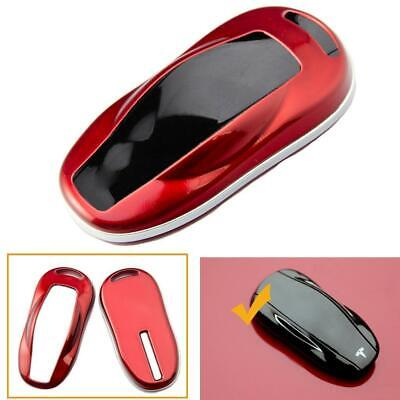 Key FOB Remote Hard Cover Snap On Case Glossy Red For Tesla Model S 2012-2018