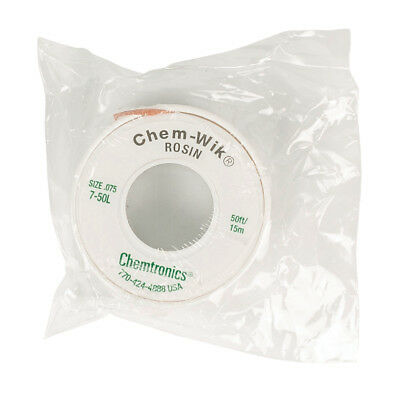Chem Wik Rosin Desoldering Braid / Wick 1.9mm Wide - 15 metre Reel (7-50L)