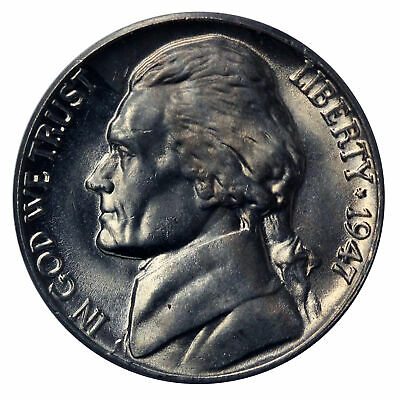 1 1947-S Jefferson Nickel //// Gem BU+ *Full Steps FS* //// 1 Coin
