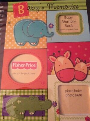 NEW Fisher Price Baby Memories Book Jungle Animals Holds Photos Write In