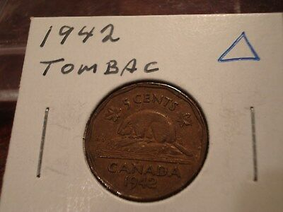 1942 Tombac - Canada 5 cent coin - Canadian nickel