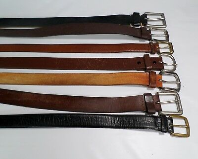 Lot of 7 Leather Belts Mens Reseller Wholesale Distressed Straps Brown Black
