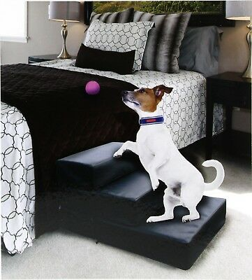 Leatherette Adjustable Large Pet Dog Stairs Set Create Your Own 3 Step Pet Step