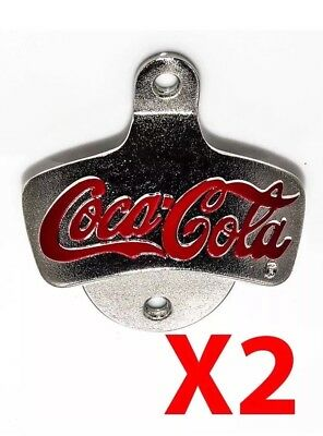 Coca Cola Bar Wall Mounted Bottle Cap Opener Beer Man Cave Rustic Coke BBQ Retro