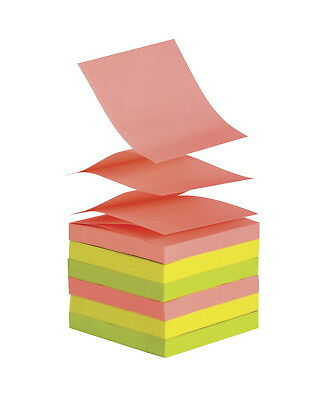 School Smart Pop-Up Self-Stick Adhesive Note, 3 X 3 in, Assorted Neon Colors,