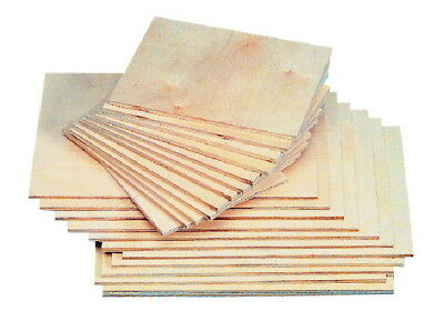 American Easel Blockprinting Wood Panels, 6 x 8 Inches, Pack of 12