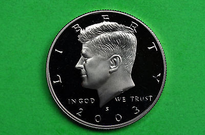 2003-S Kennedy SILVER  Half Dollar Deep Cameo US GEM  Proof Coin( 90 % SILVER)
