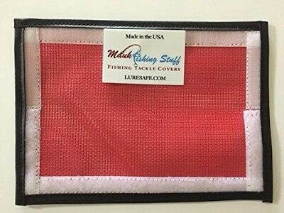(red) - Lure Safe #1vinyl/mesh -7x9 fishing tackle covers and pole wraps vinyl