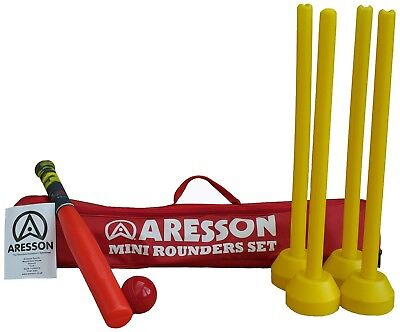 (75 cm, Red) - Aresson Kids Mini Rounders Set - Red, 75 cm. Brand New