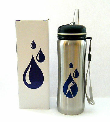 "AVON STAINLESS STEEL WATER BOTTLE FOR HER REUSABLE 24oz 8.5"" Tall NIB"