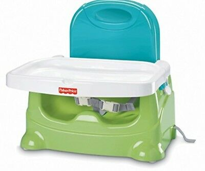 Fisher-Price Healthy Care Toddler Booster Seat, Green/Blue