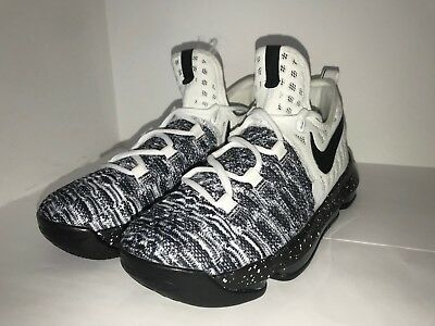 best service 08d1b f4194 Nike KD 9 Oreo Big Kids White Black Basketball Shoes 855908-100 Youth Size