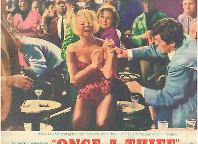 Once A Thief Ann Margret Alain Delon Nightclub Bar Fight Vintage Orig Lobby Card