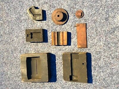Lot 8 Antique Industrial Wood Foundry Molds/Cast Patterns ~ Some Marked