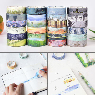 Chinese 24 Solar Terms Scenery Washi Masking Tapes DIY Diary Home Decor Craft KQ