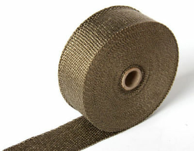 """Titanium Exhaust/Header Heat Wrap, 1"""" x 25' Roll With 6 Stainless Ties Kit"""