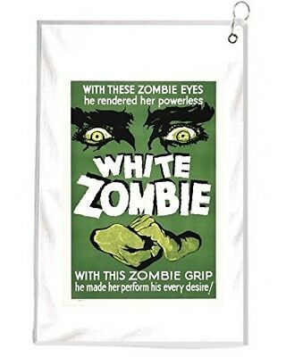 White Zombie Movie Poster Novelty Golf Towel Golfers Accessories Cleaning Tool