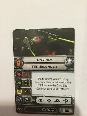 X  Wing Miniatures Game Imperial TIE Silencer Kyle Ren