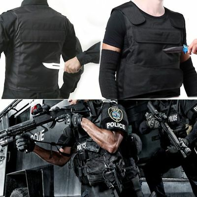 Blk Anti Stab Vest Men Vest Stabproof Anti-knifed Security Defense Body Armour O