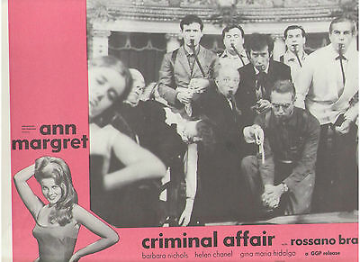 Criminal Affair Ann Margret Casino Opera Crime Smoking Original Lobby Card