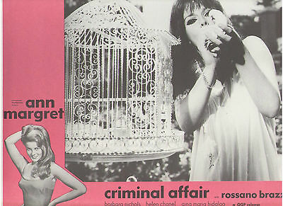 Criminal Affair Ann Margret With Dove Casino Opera Crime Original Us Lobby Card