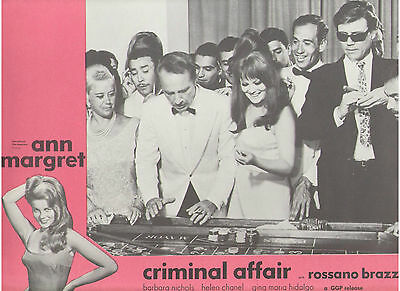 Criminal Affair Ann Margret Roger Smith Casino Opera Crime Original Lobby Card