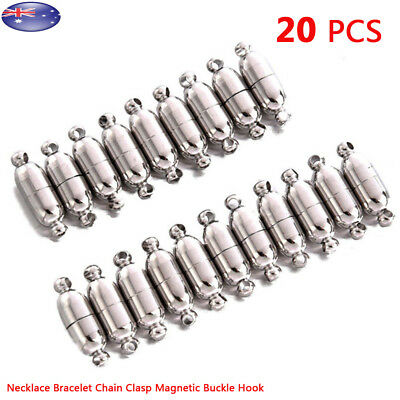 20x Necklace Bracelet Chain Clasp Magnetic Clasps Buckle Hook Jewelry Supplies
