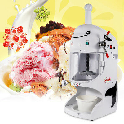 Electric Ice Crusher Shaver Machine Snow Cone Maker Shaved Ice Summer Cool 110V