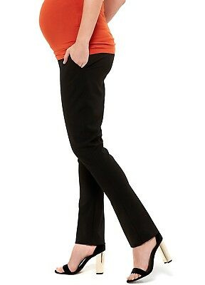 NEW - Queen mum - Black Office Maternity Trousers - Pregnancy Wear