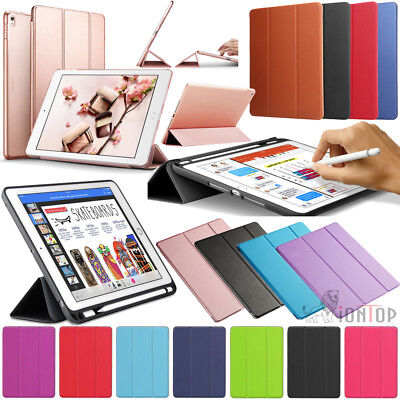 """AU Luxury Leather Smart Pencil Case Cover for iPad Pro 12.9"""" 10.5"""" 9.7"""" 6th 2018"""