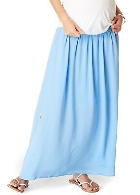 NEW - Esprit - Sky Blue Gathered Maxi Maternity Skirt