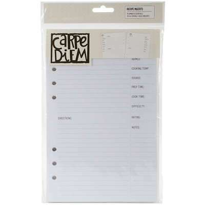 Carpe Diem Recipe Double-Sided A5 Inserts 36/Pkg   816502021791